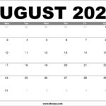 August 2020 Calendar Printable – Free Download