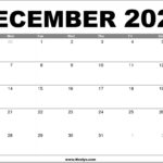 December 2020 Calendar Printable – Free Download