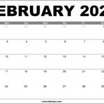 February 2020 Calendar Printable – Free Download