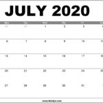July 2020 Calendar Printable – Free Download