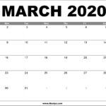March 2020 Calendar Printable – Free Download