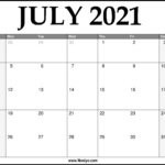 2021 July Calendar Printable – Download Free
