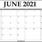 2021 June Calendar Printable – Download Free