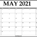 2021 May Calendar Printable – Download Free