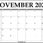 2021 November Calendar Printable – Download Free