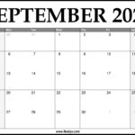 2021 September Calendar Printable – Download Free