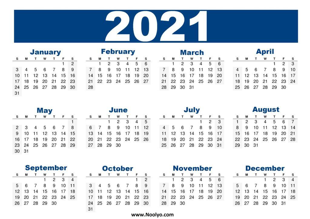 United States Calendar 2021