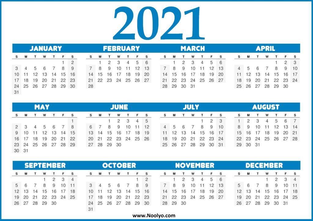 US Calendar 2021 - United States 2021 Calendar