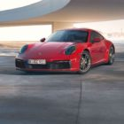 Red 911 Carrera Coupe iPhone Wallpaper